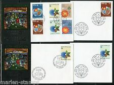 UNITED NATIONS WFUNA 1982 HUNDERTWASSER DESIGNED CACHET 6  FIRST DAY COVERS