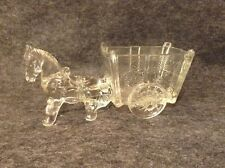 Jeanette Glass Pony Pulling Donkey and Cart
