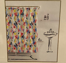 Kate Spade Shower Curtain Paintball Floral Watercolor Flower 72X72 Display New!