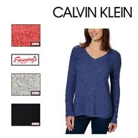 SALE! Calvin Klein Jeans Sweater Women's V Neck Long Sleeve SIZE & COLOR VARIETY