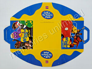 1997 Red Rooster THE WIGGLES MOVIE MEAL BOX FLAT WITH ACTIVITIES INTERIOR      b
