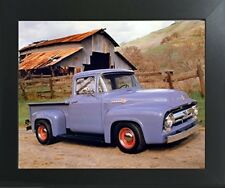 Ford F 100 V8 Pickup Vintage Truck Wall Contemporary Framed Art Print Picture