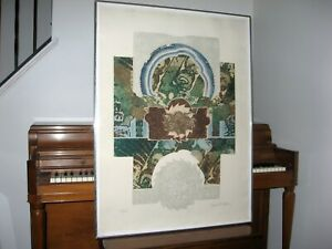 Bruce R. Bleach Etching, 40x29, #37/100, signed, multiple plates, embossed