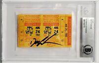 "DWIGHT GOODEN Signed 1992 Ticket Stub ""NEW YORK METS"" BAS SLABBED 00011643718"