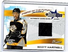 SCOTT HARTNELL 2002 BOWMAN YOUNG STARS FOTF WORN JERSEY RC+ UD GAME JERSEY