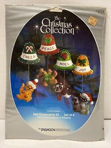 PARAGON THE CHIRSTMAS COLLECTION FELT ORNAMENT KIT #6128 RINGING IN THE SEASON