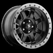 "(5) 17"" Fuel Trophy Black Wheels Jeep Wrangler JK 35""  Atturo MT Tires Package"