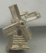 MOVING STERLING SILVER WINDMILL CHARM