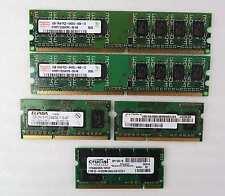 Lot of 5 Assorted Sticks of Desktop + Laptop RAM Take a Look