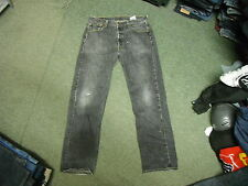 "Levi's 501 XX Straight Jeans Waist 36"" Leg 32"" Black Faded Mens Jeans"