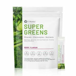 ITWORKS - SUPER GREENS  - BOISSON  VITAMINEE mineraux nutriments électrolytes -