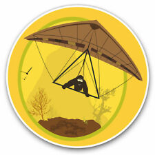2 x Vinyl Stickers 10cm - Hang Gliding Extreme Sports Cool Gift #7139