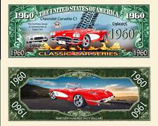 CHEVROLET CORVETTE BILLET MILLION DOLLARS US! C1 Collection Voiture Car 1960 USA