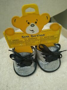 Build-A-Bear silver glitter boots new with tags nwt