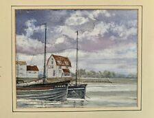 Watercolour of Woodbridge Tidemill, Suffolk. Artist Unknown.