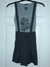 Girls/young lady grey sleeveless dress with fake braces - Atmosphere size UK 8