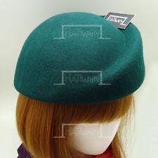 FASHION Wool Felt Women Pillbox Hat Beret Soft Ladies Cloche NEW   57cm   Green