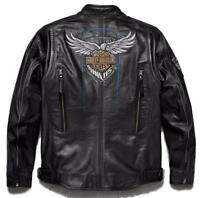 Harley Davidson Men's 115th Anniversary Eagle B&S Leather Jacket M 98000-18VM