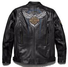 Harley Davidson Men's 115th Anniversary Eagle B&S Leather Jacket L 98000-18VM