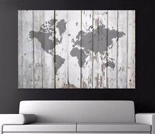 Ikea deko bilder drucke mit weltkarten motiv ebay for Weltkarte leinwand ikea