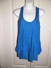 ANTHROPOLOGIE SILENCE & NOISE Racer Back Button Front Swing Tank Top Small