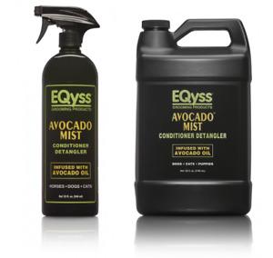 Eqyss Premier Avocado Mist Aloe Anti Static Horse Coat Mane & Tail Detangler