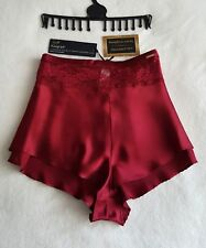 NEW M&S AUTOGRAPH ROSIE LUXURIOUS SILK & LACEcFRENCH KNICKERS SIZE 20 - DARK RED