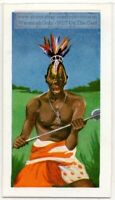 Bapende Tribe Liberia Africa Warrior Weapon Vintage Ad Trade Card