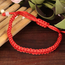 5x New Hand Braided Red String Rope Cord Lucky Bracelet Adjustable Gift Jewelry