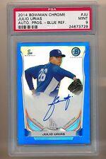 2014 14 Bowman Chrome Julio Urias Blue Ref Auto Autograph PSA 9 122/150 Dodgers