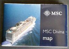 MSC DIVINA....cruise ship Map  Profile Deck Plan