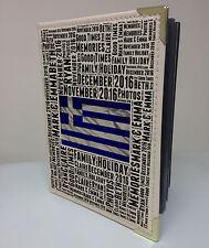 "Personalised 7x5"" x 36 photo album, memory book, Greece holiday honeymoon"