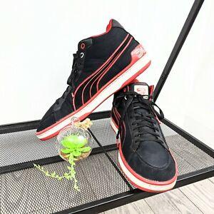 Ducati Puma Collaboration Men's Black & Red Canvas / Suede Sneakers Size 14