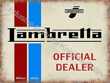 Vintage Garage Italian Classic Scooter Mods Old Plaque Large Metal/Tin Sign