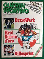 GUERIN SPORTIVO 1981 n 23 con Poster PRUZZO + ADESIVO JUVENTUS 19° SCUDETTO