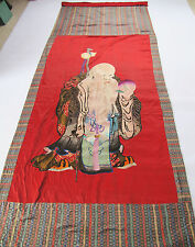 310x110cm Shoulao Stickerei antique silk gold embroidery wall hanging