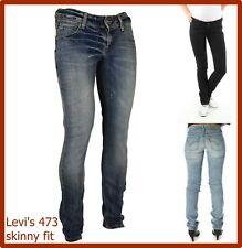 levi's 473 jeans levis donna elasticizzati vita bassa skinny slim 27 w30 w32 w33
