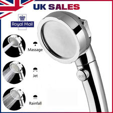 Shower Head Chrome High Turbo Pressure 40% Water Saving Ionic 3 Filters UK