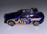 1996 Hot Wheels Escort Rally 1:64 Blue #71 Diecast Toy Vintage Car Loose