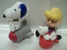 MCDONALD'S premium PEANUTS LOT OF 2 SNOOPY ASTRONAUT SCHROEDER PIANO FREE SHIP