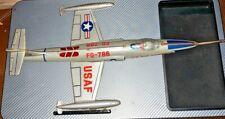 VINTAGE JAPAN TIN LITHO FRICTION USAF LOCKHEED F-104 STARFIGHTER FG-786 JET