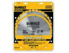"DEWALT DW3128P5 Crosscutting Tungsten Carbide Miter Saw Blade 12""80T Thin Kerf"
