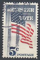 USA Briefmarke gestempelt 5c Register Vote Rundstempel / 5