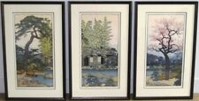 TOSHI YOSHIDA 'S FRIENDLY GARDEN (PINE, BAMBOO, PLUM) ORIGINAL WOODBLOCK PRINTS