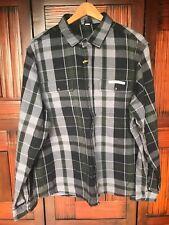 Tailor Vintage Reversible Plaid Flannel Button Down Shirt Size XXL New