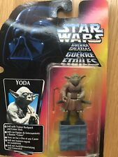 New In Box Star Wars Kenner Yoda With Backpack And Gimer Stick