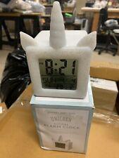 Pottery Barn Kids Unicorn light up digital alarm clock new