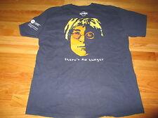 """2009 Hard Rock John Lennon """"Imagine . There's No Hunger"""" (Lg) T-Shirt Beatles"""