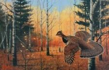"Les Kouba Heartland Grouse Signed and Numbered Print  12"" x 8"""