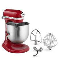 KitchenAid Commercial 8-Qt Bowl Lift NSF Stand Mixer KSM8990ER 1.3-HP Motor Red